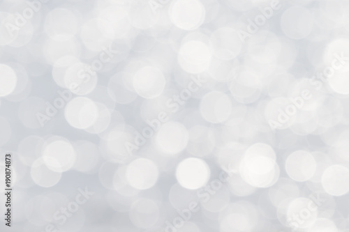Obraz Soft de-focused shiny white bokeh abstract background - fototapety do salonu