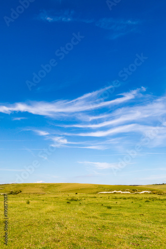Deurstickers Blauwe hemel South Downs Landscape