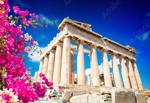 Foto op Canvas Athene Parthenon temple, Athens