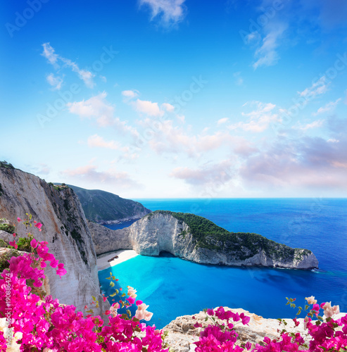 Poster Naufrage Beautiful lanscape of Zakinthos island