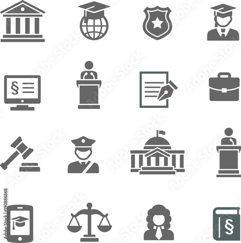 Foto  Law & Justice icon set
