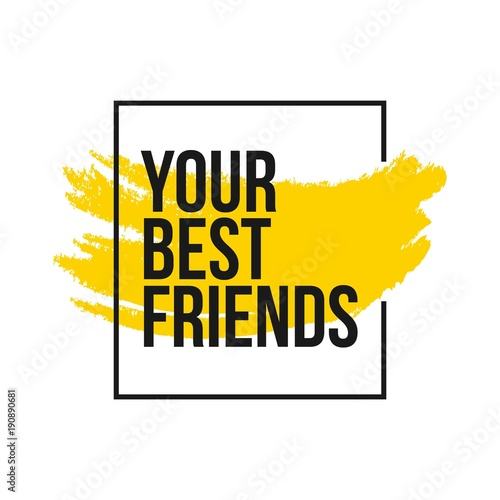 Your Best Friends Vector Template Design - Buy this stock