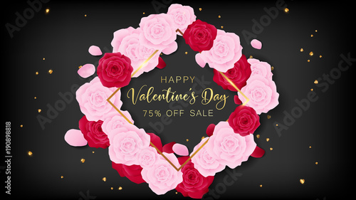 Love Valentine S Day Square Template Included Golden Happy