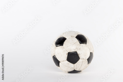 In de dag Bol Soccer football ball studio atelier white background