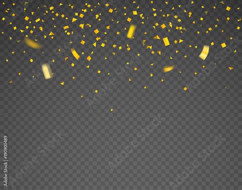 Valokuvatapetti Golden confetti falling down