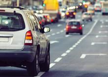 Cars Driving Traffic Jam
