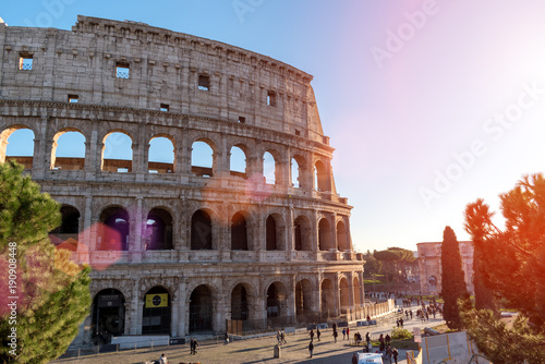 Fotografia, Obraz  Colosseum in Rome. Italy. Sunny.