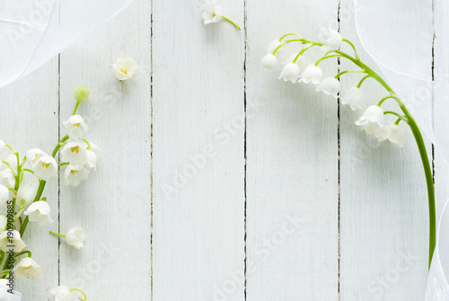 Photo Stands Lily of the valley Wedding background
