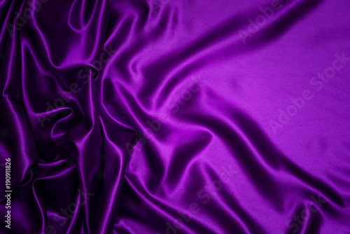 Foto op Plexiglas Stof Abstract purple drapery cloth, Wave of dark violet fabric background, Pattern and detail grooved fabric for background and abstract