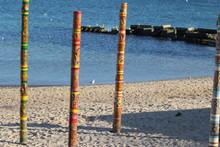 Decorated Pillars On The Sea B...