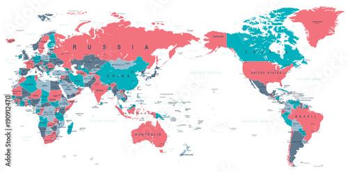 polityczna-mapa-swiata-na-srodku-pacyfiku