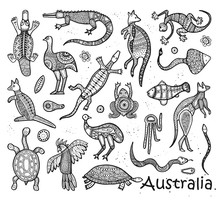 Animals Drawings Aboriginal Au...