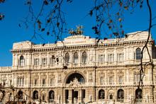 December 24, 2017. Rome Italy. Palace Of Justice (Corte Suprema Di Cassazione) Near Tiber River.