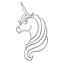Fairy-tale Unicorn, Sketch For...