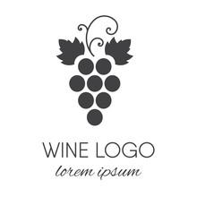 Grapes Logo Design Element.