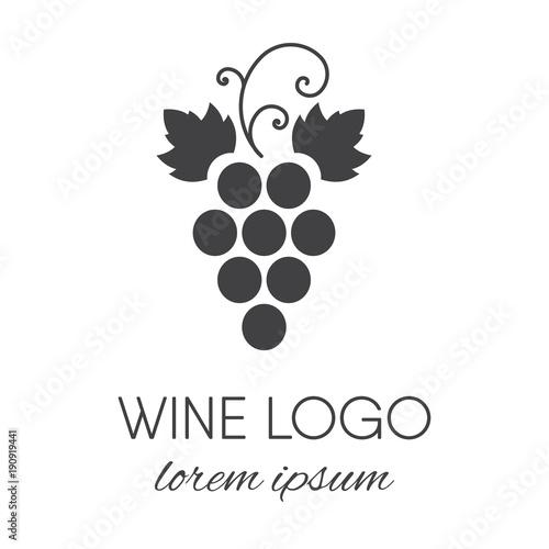 Fotografiet  Grapes logo design element.