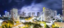 Nightscape Of Honolulu, Hawaii