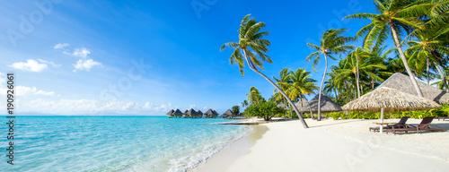 Obraz Lato, słońce, plaża i morze na wakacjach - fototapety do salonu