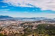 canvas print picture - Vue sur la rade de Toulon du haut du Fort de Six-Fours