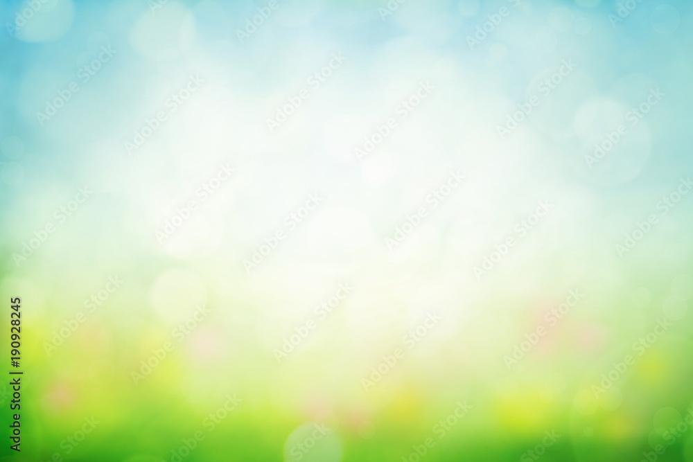Fototapety, obrazy: Sunny spring meadow blur background