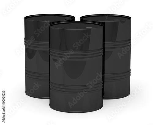 Fotografering  Barils pétrole noir