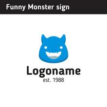 Logo Funny Monster, Monster Head