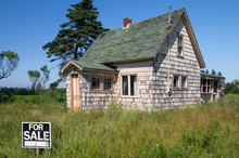 Abandoned Weathered House For Sale