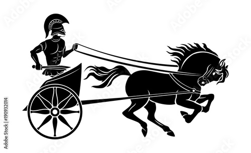 chariot  gladiator Canvas Print