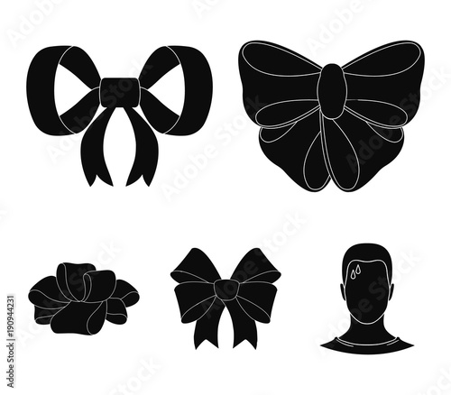 Fotografie, Tablou Ornamentals, frippery, finery and other web icon in black style