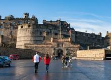 Esplanade At Edinburgh Castle.