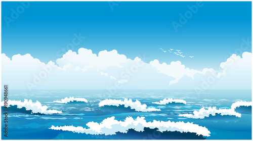 Beautiful ocean waves © blacklight_trace