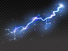 Lightning On Transparent Backg...