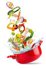 Fresh Ingredients Vegetables A...