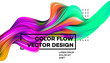 Modern colorful flow poster. Wave Liquid shape in white color background. Art design for your design project. Vector illustration