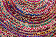 Rag Rug Close Up With Colorful...