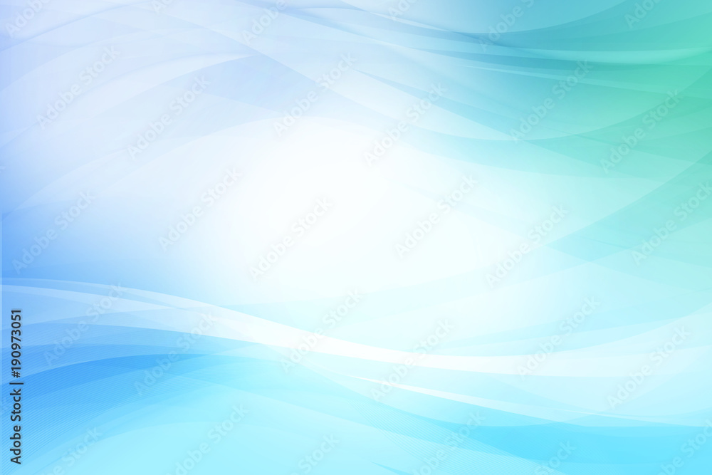 Fototapeta ブルーのウェーブ 抽象的な背景