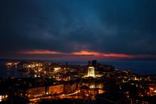 View Of The Evening Vladivostok From The Site. Historical City Center Of Vladivostok