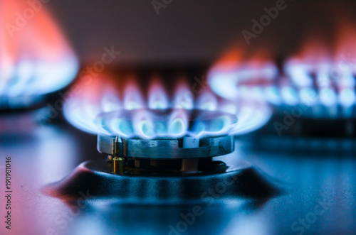 Fotografie, Obraz  Burning gas burner.