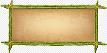 Creative Vector Illustration Of Bamboo Stick Border Isolated