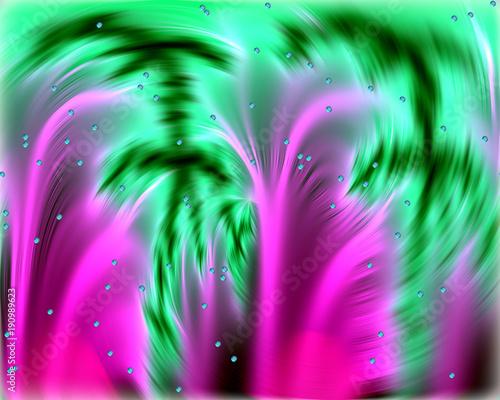 bable-na-romantycznym-zamazanym-fiolek-zieleni-tle-abstrakcjonistyczny