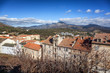 Corte, a city in the mountains, France, the island of Corsica. Beautiful city landscape