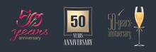 50 Years Anniversary Vector Ic...