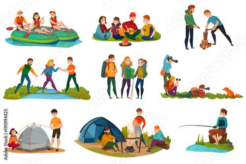Fotografering  Camping People Set
