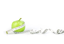 Green Apple With Measuring Tap...