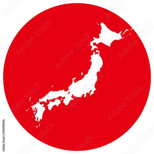 日本地図と日の丸