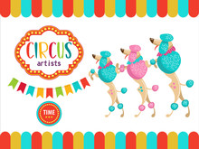 Circus Performers Illustration