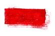 canvas print picture - Isolierter roter unordentlicher Farbstreifen