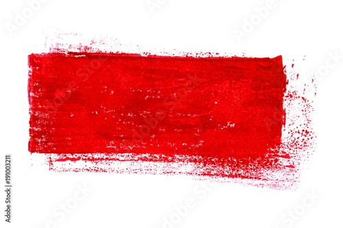 na-bialym-tle-czerwony-pasek-niechlujny-kolor