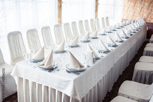 Photo Served table. hall for banquets and weddings
