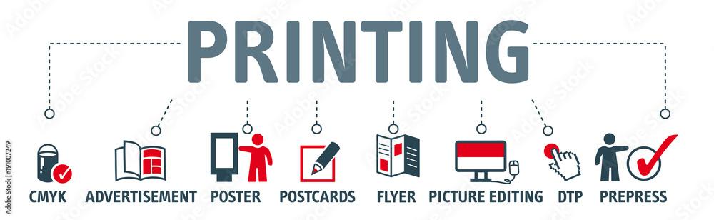 Fototapety, obrazy: Banner printing vector design concept